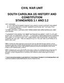 Civil War Lecture Notes & Test - US History (SC Standards