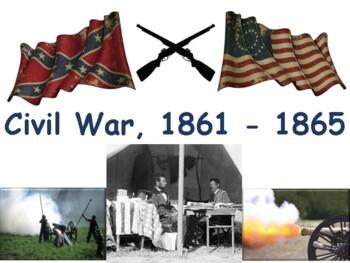 Civil War Lesson & Flashcards -task cards, study guide, exam prep