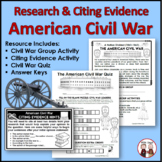 Civil War Bundle of Activities