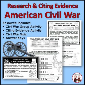 Government teaching resources lesson plans teachers pay teachers civil war activities bundle civil war activities bundle fandeluxe Image collections