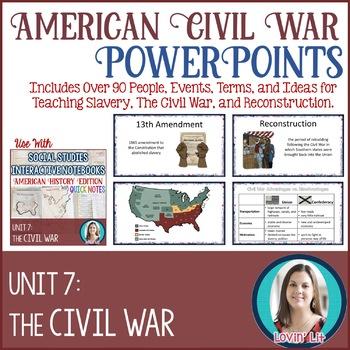 Civil War Lesson PowerPoints