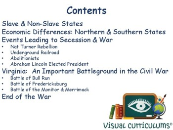 Civil War Lesson - classroom unit, study guide, state exam prep 2017 2018 update
