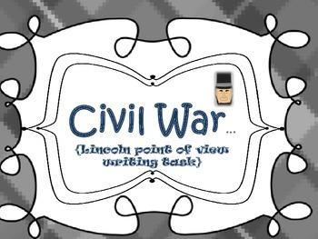 Civil War {Lincoln writing piece}
