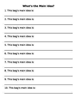 Civil War Main Idea Bags