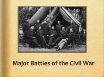 Civil War: Major Battles Powerpoint and Note Guide