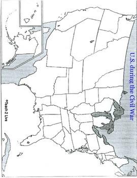 Civil War Map Activities Bundle