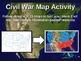Civil War Map Activity - fun, easy, engaging follow-along 20-slide PPT