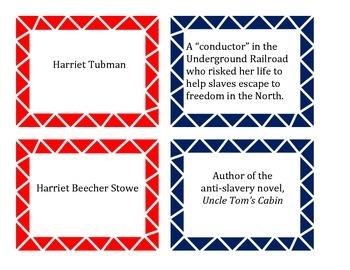 Civil War Matching Card Game
