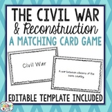 Civil War and Reconstruction Card Game