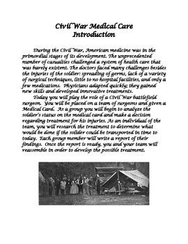 Civil War Medical Treatment Project