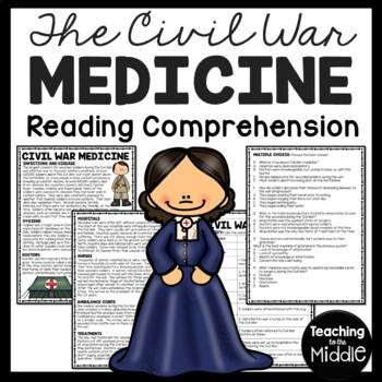 Civil War Medicine Reading Comprehension Worksheet