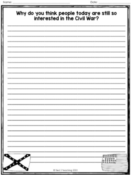 Civil War Unit: Activities Printables Graphic Organizers and More