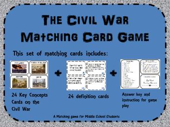 Civil War Memory/ Matching Game