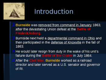American Civil War - Key Leaders - Union - Ambrose Burnside