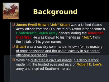 American Civil War - Key Leaders - Confederate - JEB Stuart