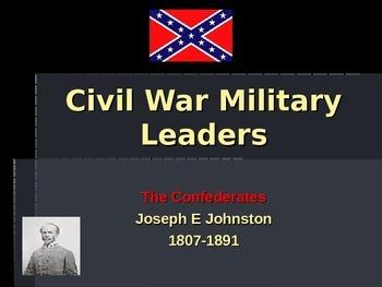 American Civil War - Key Leaders - Confederate - Joe Johnston