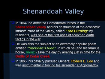American Civil War - Key Leaders - Union -  Philip Sheridan