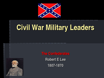American Civil War - Key Leaders - Confederate - Robert E Lee