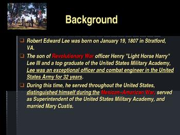 American Civil War - Key Leaders - Confederate - Robert E Lee