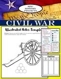U.S. History: Civil War - Mini Lesson & Illustrated Notes Activity
