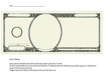 Civil War Money Design