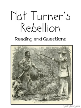 Events leading to the Civil War - Nat Turner's Rebellion