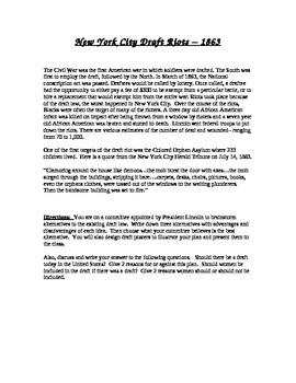 Civil War: New York City draft riots poster and presentation