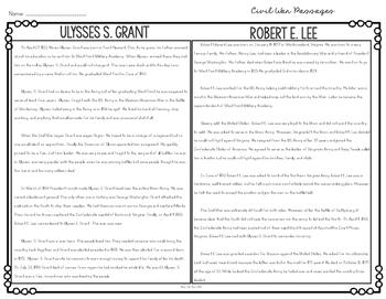 Civil War Nonfiction Paired Passages