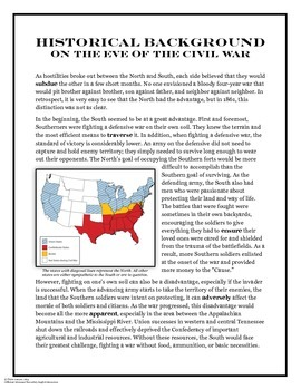 Civil War: North v. South Informational Text Article + Activities