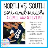 Civil War: North vs South Sort-and-Match Activity