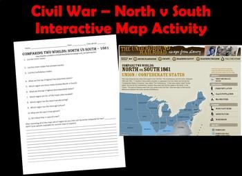 Civil War Webquest  North vs South - Comparing Two Worlds