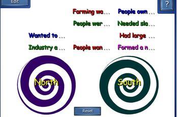 Civil War - North vs. South vortex game