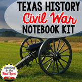 Civil War in Texas Notebook Kit