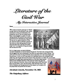 Civil War Novel Interactive Journal
