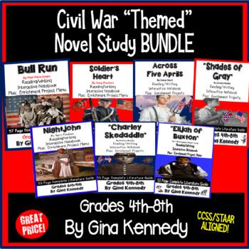 Civil War Novel Study Bundle, Seven Complete Civil War Literature Units!