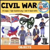 Civil War Objects Clip Art Bundle {Clip Guy Graphics ClipArt}