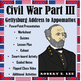 Civil War Part III: From the Gettysburg Address to Appomattox for APUSH, EOC, US