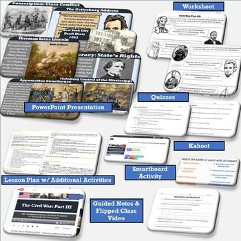 Civil War Part III: From the Gettysburg Address to Appomattox for APUSH, EOC, US