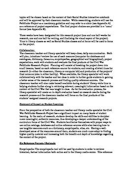 Civil War Pathfinder / Research Project