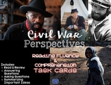 Civil War Perspectives Task Cards for Reading Fluency & Comprehension