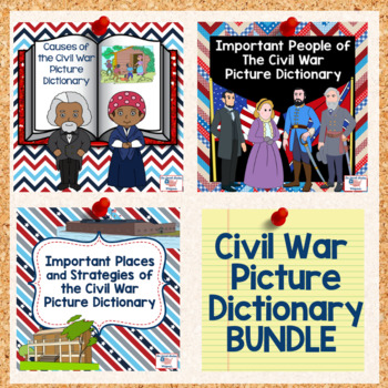 Civil War Picture Dictionary Bundle by The Social Studies Whisperer