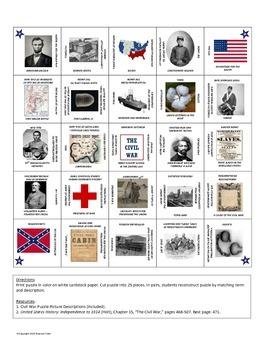Civil War Picture Puzzle