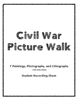 Civil War Picture Walk