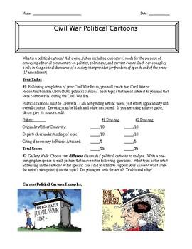 Civil War Political Cartoon Assignment