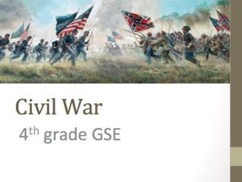 Civil War Power Point PPT Unit Plan: SS5H1 5th Grade