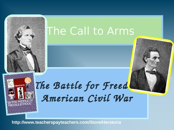 """Civil War PowerPoint """"Call to Arms"""""""