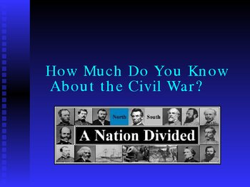 Civil War PowerPoint Presentation