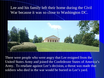 Arlington National Cemetery, Robert E. Lee's Home-Civil War PowerPoint Series