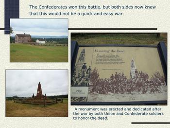 Bull Run Manassas-First Major Battle-Civil War PowerPoint Series