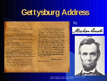 Lincoln's Gettysburg Address-Civil War PowerPoint Series